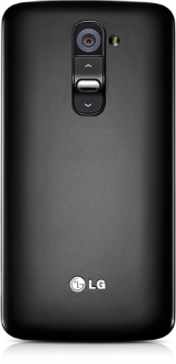 An LG device with a volume button placed in the back.