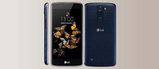 The LG K8 in gray