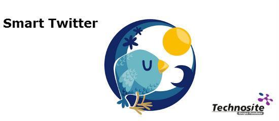 Logo de la aplicación Smart Twitter y de Technosite.